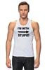 "Майка классическая ""I'm with stupid"" - i m with stupid, я с придурком, идиот, придурок, i'm with stupid"