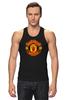 """Майка (Мужская) """"Manchester United """" - красные, манчестер юнайтед, red devils, mu, manchester united, красные дьяволы, the reds, мю"""