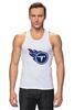 """Майка классическая """"Теннесси Тайтанс"""" - огонь, логотип, nfl, американский футбол, american football, нфл, теннесси тайтанс, titans"""