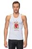 "Майка (Мужская) ""Happy Valentnine's Day"" - сердце, heart, bear, медведь, мишка"