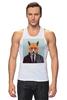 """Майка классическая """"Деловой лис"""" - модно, стильно, лис, fox, лиса"""