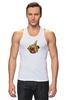 """Майка классическая """"Мопс и банановая кожура"""" - pug, пёс, банан, мопс, банановая кожура"""
