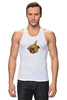 "Майка (Мужская) ""Мопс и банановая кожура"" - pug, пёс, банан, мопс, банановая кожура"