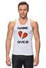 """Майка (Мужская) """"Game Over (Игра Окончена)"""" - пиксель арт, 8 бит, 8-bit, расставание, разбитое сердце"""