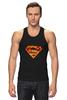 """Майка классическая """"Супермен"""" - comics, комикс, superman, супергерой, dc, superhero"""