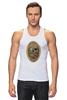 "Майка (Мужская) ""с черепом"" - skull, череп, скелет, с черепом, хипстер, пират, hipster, sailor, старый моряк"