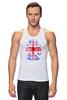 """Майка классическая """"Skull Art"""" - skull, череп, uk, british flag, британский флаг"""
