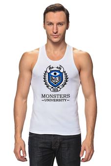 """Майка классическая """"Monsters University"""" - мультфильм, кино, cinema, университет монстров, monsters university"""