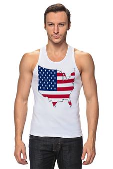 """Майка (Мужская) """"  USA"""" - футболка, мужская, америка, usa, футболка мужская, us, сша, america, штаты"""
