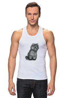 """Майка классическая """"Кот из фильма """"Пыль"""""""" - кот, котэ, концептуально, пыль, футболки из фильмов"""