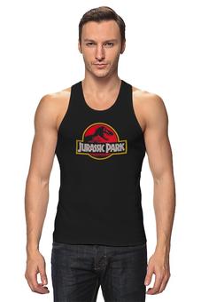 """Майка классическая """"Jurassic Park / Парк Юрского Периода"""" - динозавры, афиша, парк юрского периода, jurassic park, kinoart"""
