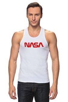 """Майка классическая """"NASA """" - космос, бренд, nasa, cosmos, астрономия"""