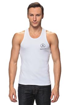 """Майка (Мужская) """"Mercedes"""" - спорт, автомобиль, мерседес, марка машины, извесная"""