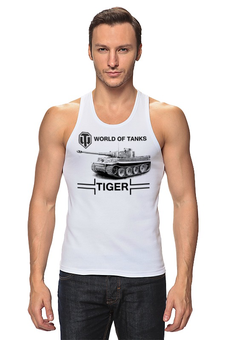 "Майка классическая ""WOT Tiger"" - tiger, тигр, world of tanks, танки, wot"