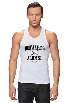"""Майка классическая """"hogwarts alumni"""" - harry potter, гарри поттер, выпускник хогвартс"""