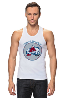 "Майка (Мужская) ""Колорадо Эвеланш"" - хоккей, nhl, нхл, колорадо эвеланш, colorado avalanche"