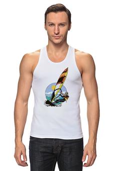 """Майка классическая """"Спортсмен..Отдых...Пляж..Море"""" - спортсмен, море, beach"""
