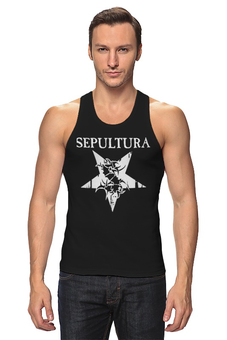 """Майка классическая """"Sepultura"""" - музыка, metal, группы, метал, sepultura"""