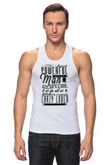 """Майка классическая """"Необычный подарок-признание Любимому"""" - любовь, авторские майки, популярные, мужская, прикольные, в подарок, оригинально, футболка мужская, креативно, выделись из толпы"""