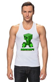 "Майка классическая ""Minecraft (Майнкрафт) Creeper (Крипер)"" - minecraft, майнкрафт, creeper, крипер, геймер"