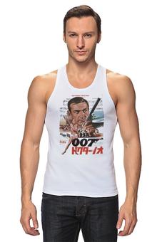 """Майка классическая """"Dr No """" - 007, кино, иероглифы, james bond, джеймс бонд"""