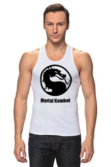 """Майка классическая """"Mortal Kombat"""" - mortal kombat, смертельная битва, mk, mortal combat"""