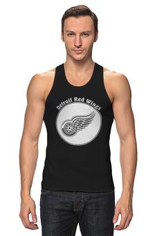 "Майка классическая ""Detroit Red Wings"" - хоккей, nhl, нхл, детроит ред вингз, red wings"
