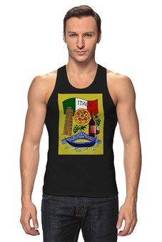 """Майка классическая """"Итальянская любовь"""" - италия, флаг, путешествия, вино, пицца"""