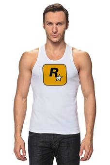 """Майка классическая """"Rockstar"""" - авторские майки, футболка, мужская, оригинально, футболка мужская, grand theft auto, gta, rockstar, гта, рокстар"""