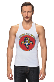 "Майка классическая ""Флорида Пантерс "" - хоккей, nhl, нхл, florida panthers, флорида пантерс"