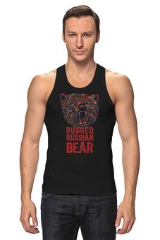 """Майка классическая """"Animal Art"""" - животные, bear, медведь, animal, арт дизайн"""