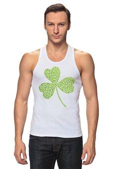 """Майка классическая """"Без названия"""" - клевер, ирландия, день святого патрика, st patrick day, st patricks day"""