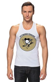 """Майка классическая """"Питтсбург Пингвинз """" - хоккей, hockey, nhl, нхл, питтсбург пингвинз"""