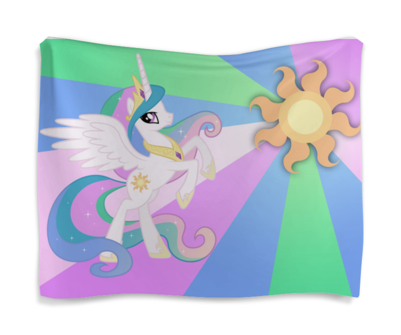 Гобелен 180х145 Printio Princess celestia color line холст 30x30 printio princess celestia color line