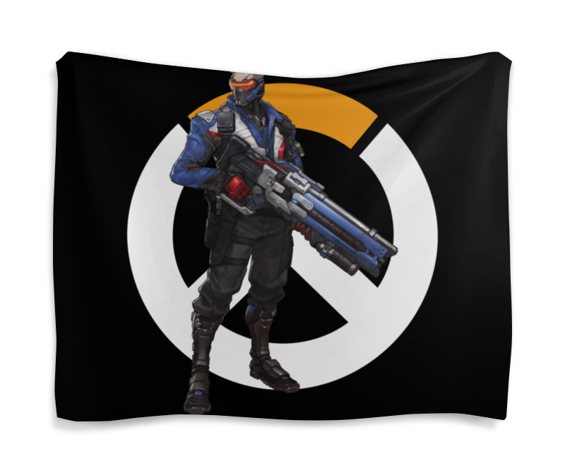 Гобелен 180х145 Printio Overwatch soldier 76 / овервотч солдат 76