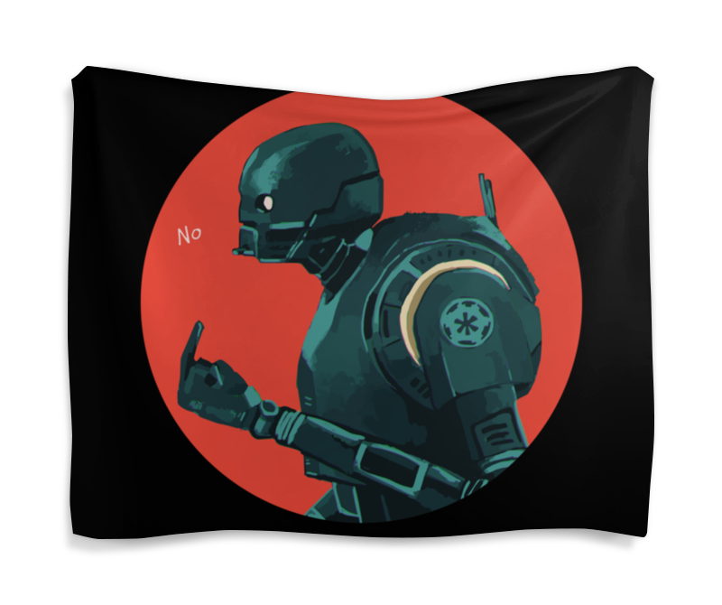 Гобелен 180х145 Printio Star wars rogue one k2so/ изгой один к2со star wars rogue one ultimate sticker encyclopedia