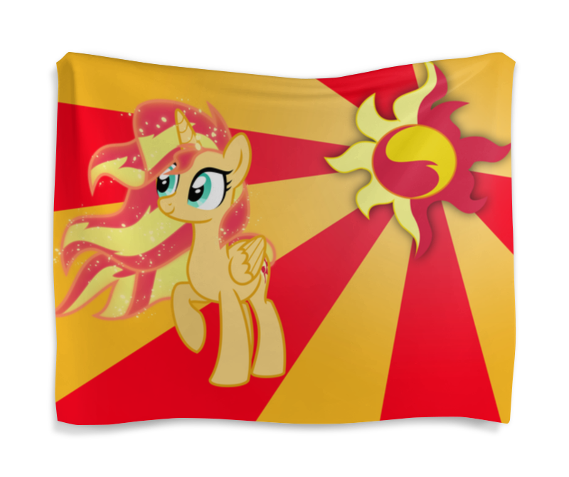 Гобелен 180х145 Printio Sunset shimmer color line холст 30x30 printio sunset shimmer color line