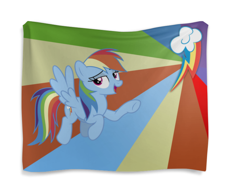 Гобелен 180х145 Printio Rainbow dash color line гобелен 180х145 printio princess luna color line