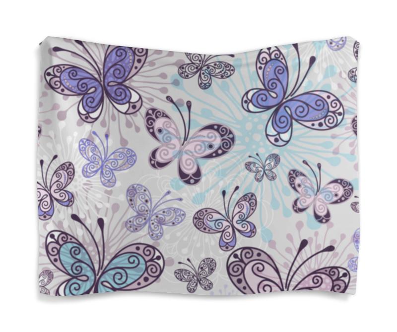 цена на Гобелен 180х145 Printio Фиолетовые бабочки