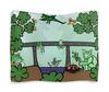 """Гобелен 180х145 """"Семья троллей живет под мостом"""" - дракон, отдых, семья, природа, тролли под мостом"""