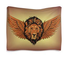 "Гобелен 180х145 ""Крылатый лев"" - лев, крылья, мифологический, рисунок, фэнтези"