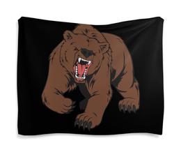 "Гобелен 180х145 ""Bear / Медведь"" - арт, животные, спорт, bear, медведь"