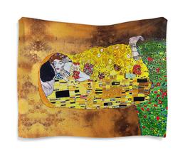 "Гобелен 180х145 ""Поцелуй(Gustav Klimt)"" - поцелуй, густав климт, объятия, эротизм, модерм"