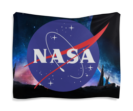 "Гобелен 180х145 ""NASA | НАСА"" - звезды, космос, nasa, футболка космос, одежда космос"