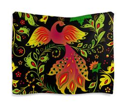 """Гобелен 180х145 """"Жар - птица"""" - красиво, цветы, птицы, природа, жар - птица"""