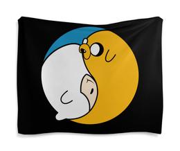 "Гобелен 180х145 ""Adventure Time / Время Приключений"" - время приключений, adventure time, финн, джейк, мультфильм"
