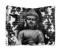 "Гобелен 180х145 ""Будда (Письмена)"" - философия, религия, buddha, будда, духовность"