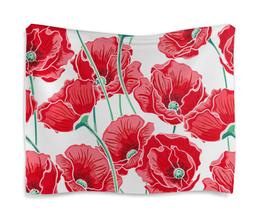 """Гобелен 180х145 """"Красные маки"""" - маки, цветы, природа, красиво, ярко"""