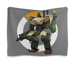 "Гобелен 180х145 ""Overwatch Bastion / Овервотч Бастион"" - бастион, овервотч, bastion, overwatch, видеоигры"