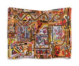 "Гобелен 180х145 ""Оранжевый дом."" - арт, узор, абстракция, фигуры, текстура"